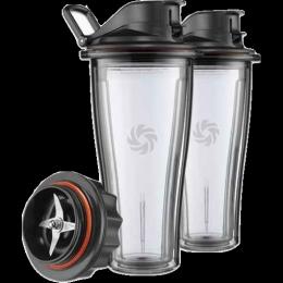 Vitamix 0,6-Liter-Behälter-Set mit Messerblock für Ascent Series Hochleistungsmixer freigestellt